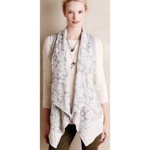 Saturday Sunday Anthropologie Lace Vest Cardigan